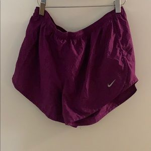 Purple Nike Shorts With Built In Liner